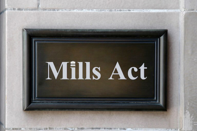 California state Mills Act information